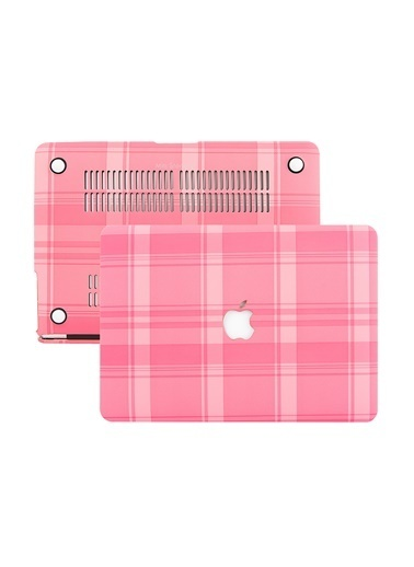 Mcstorey MacBook Air A1369 A1466 13 inç Kılıf Sert Kapak Koruyucu Hard ıncase Burberry 01-C36-1569 Pembe